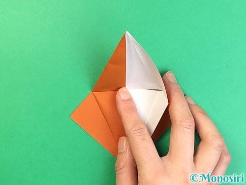 折り紙でコオロギの折り方手順16