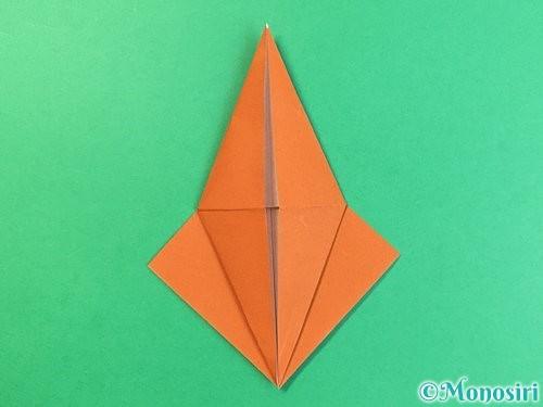 折り紙でコオロギの折り方手順17
