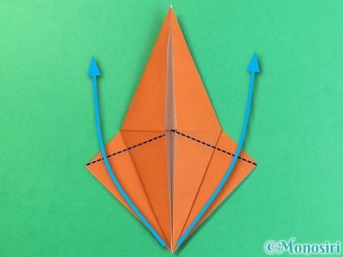 折り紙でコオロギの折り方手順18