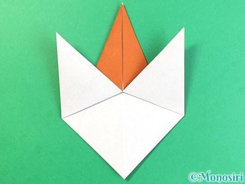 折り紙でコオロギの折り方手順19