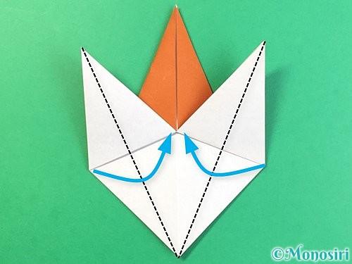 折り紙でコオロギの折り方手順20