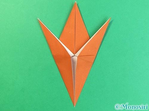 折り紙でコオロギの折り方手順21