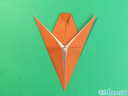 折り紙でコオロギの折り方手順23