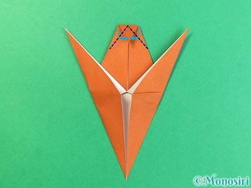折り紙でコオロギの折り方手順24