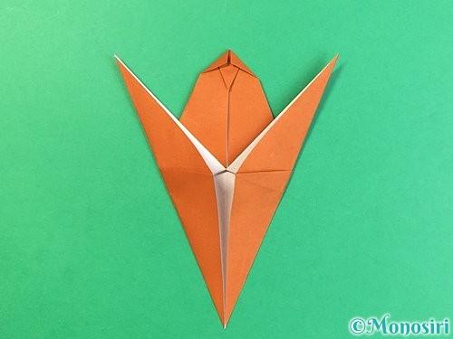 折り紙でコオロギの折り方手順25
