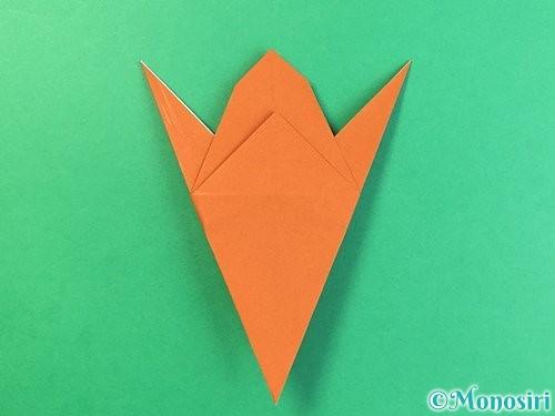 折り紙でコオロギの折り方手順26