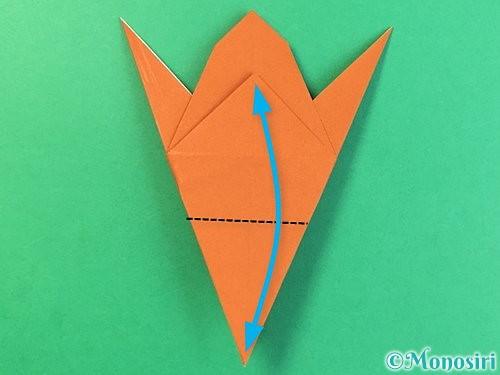 折り紙でコオロギの折り方手順27