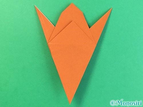 折り紙でコオロギの折り方手順28