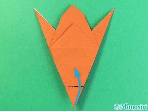 折り紙でコオロギの折り方手順29