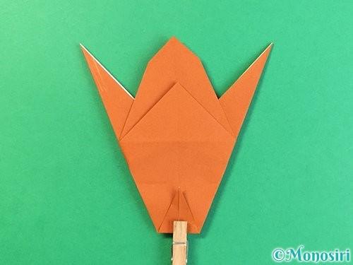 折り紙でコオロギの折り方手順30