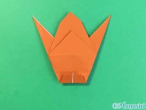 折り紙でコオロギの折り方手順32