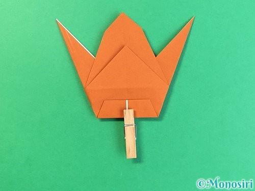 折り紙でコオロギの折り方手順34