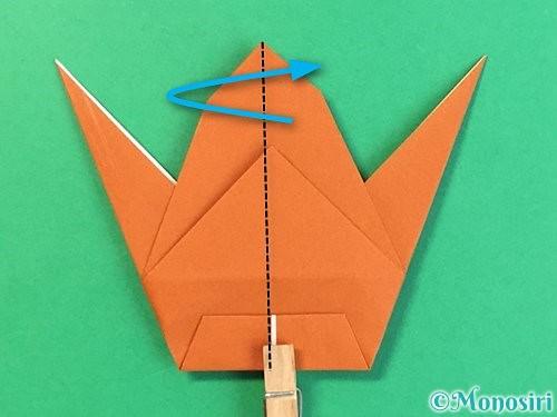折り紙でコオロギの折り方手順35