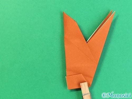 折り紙でコオロギの折り方手順36