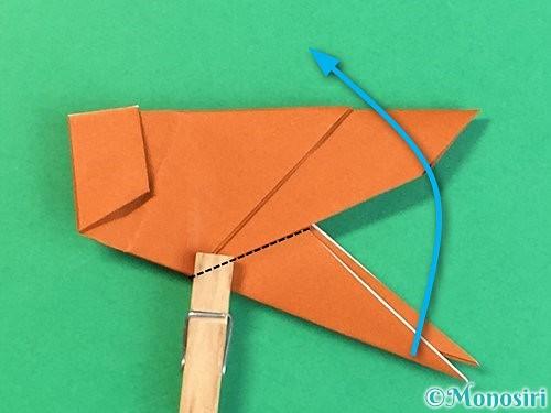 折り紙でコオロギの折り方手順38