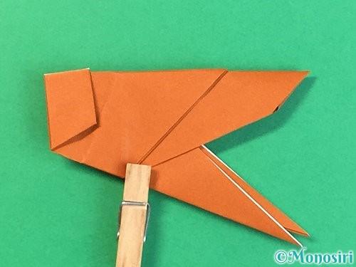 折り紙でコオロギの折り方手順37