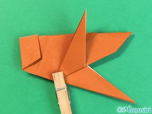 折り紙でコオロギの折り方手順39