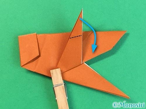 折り紙でコオロギの折り方手順40