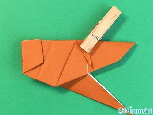 折り紙でコオロギの折り方手順41