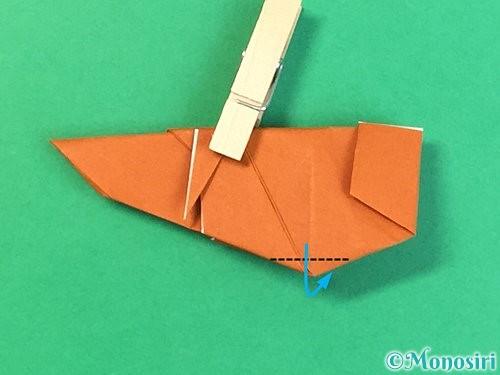 折り紙でコオロギの折り方手順43