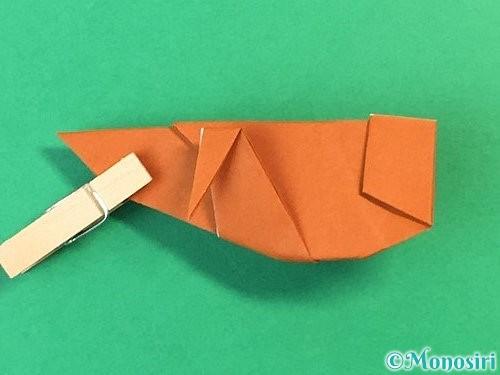 折り紙でコオロギの折り方手順44