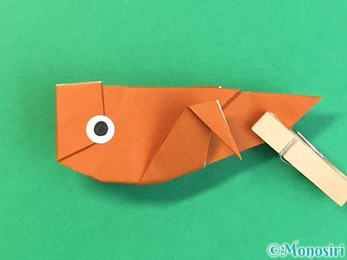 折り紙でコオロギの折り方手順45