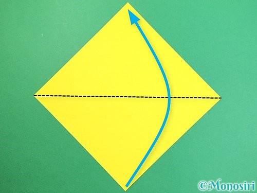折り紙でたんぽぽの折り方手順1