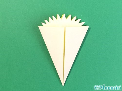 折り紙でたんぽぽの折り方手順14