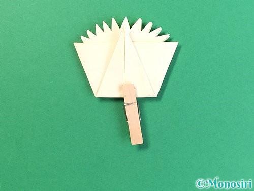 折り紙でたんぽぽの折り方手順16