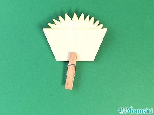 折り紙でたんぽぽの折り方手順17