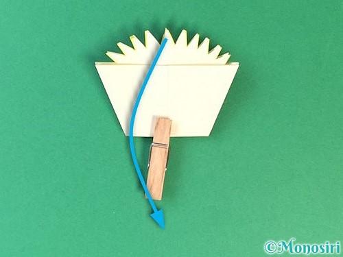 折り紙でたんぽぽの折り方手順18