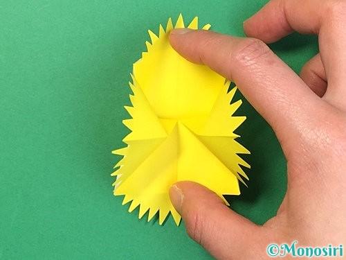 折り紙でたんぽぽの折り方手順19