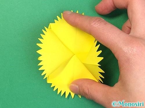 折り紙でたんぽぽの折り方手順20