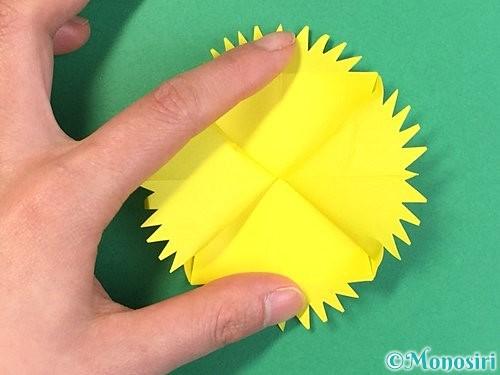 折り紙でたんぽぽの折り方手順21