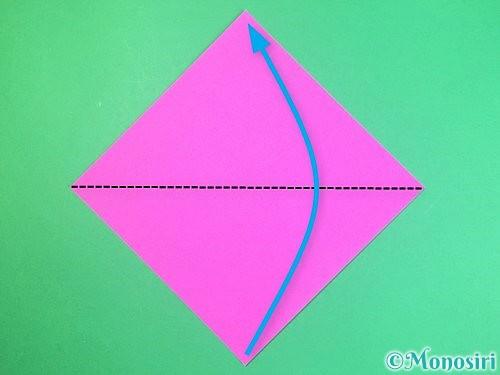 折り紙で立体的なハイビスカスの折り方手順1