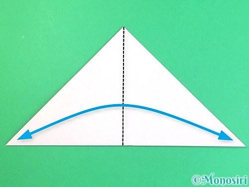 折り紙で立体的なハイビスカスの折り方手順3