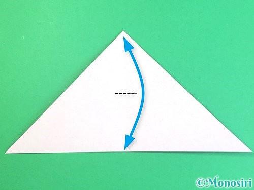 折り紙で立体的なハイビスカスの折り方手順5
