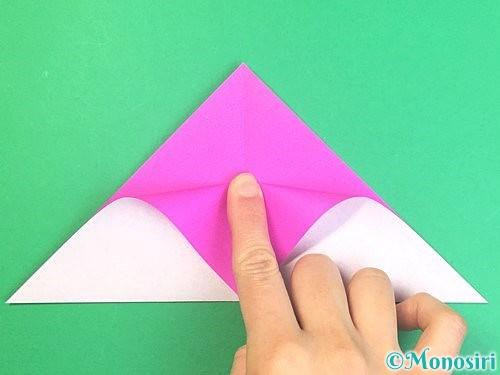 折り紙で立体的なハイビスカスの折り方手順6