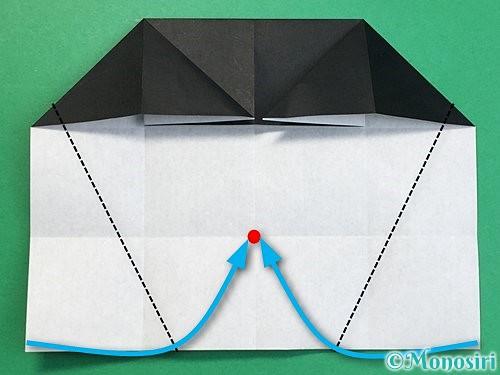折り紙でパンダの折り方手順37