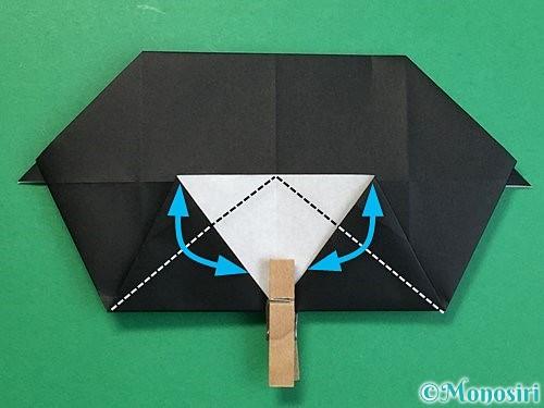 折り紙でパンダの折り方手順44