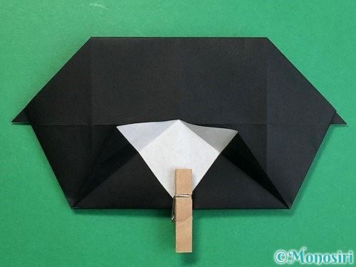 折り紙でパンダの折り方手順45