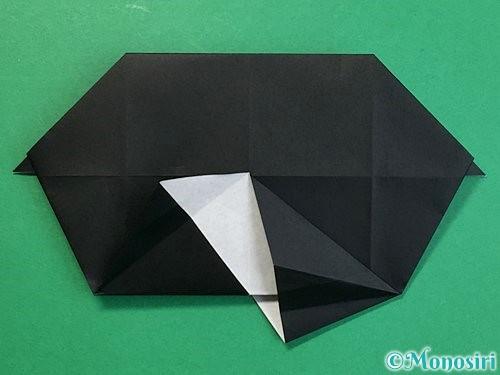 折り紙でパンダの折り方手順48