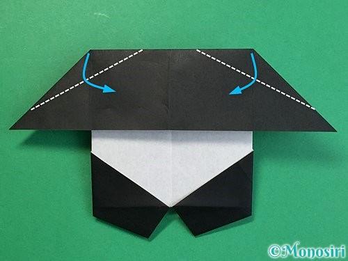 折り紙でパンダの折り方手順53