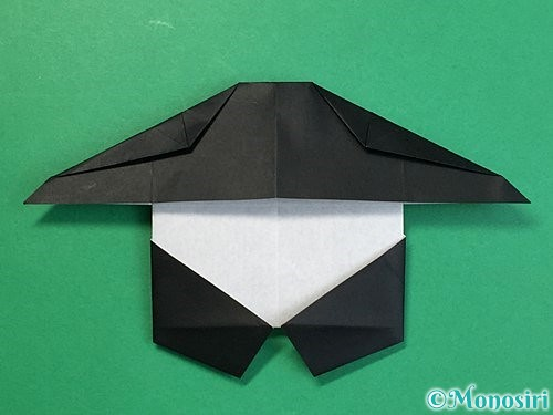 折り紙でパンダの折り方手順54