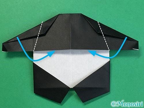 折り紙でパンダの折り方手順57