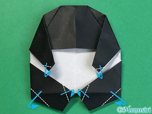 折り紙でパンダの折り方手順59