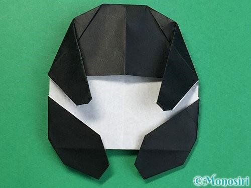 折り紙でパンダの折り方手順60