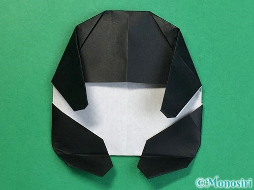 折り紙でパンダの折り方手順62