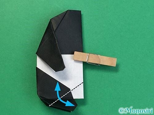 折り紙でパンダの折り方手順65