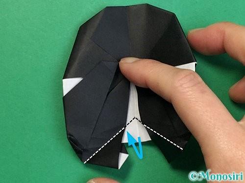 折り紙でパンダの折り方手順68